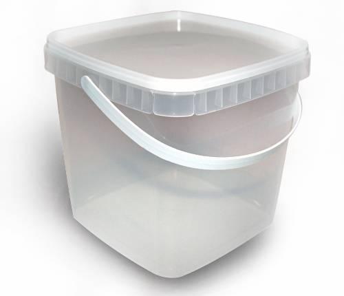 Герметичное пищевое пластиковое ведро, контейнер 2300мл.
