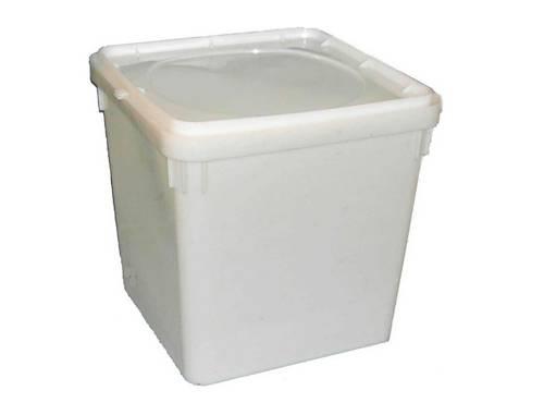Герметичное пищевое пластиковое ведро, контейнер 23л. кубитейнер