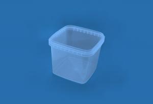 Герметичное пищевое пластиковое ведро, контейнер 1150мл. прямоугольное