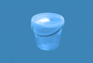 Герметичное пищевое пластиковое ведро, контейнер 2000мл.