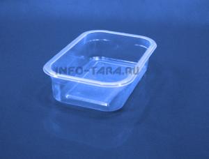 Пластиковый контейнер 300мл прямоугольный