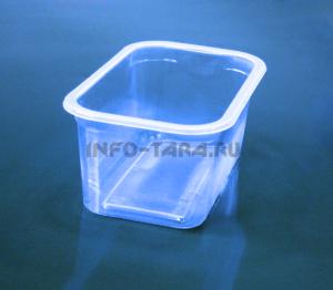 Пластиковый контейнер 550мл прямоугольный