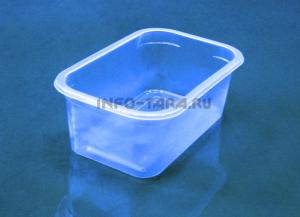 Пластиковый контейнер 500мл прямоугольный