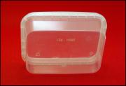 Герметичная пищевая упаковка, пластиковая банка 280мл. прямоугольная.