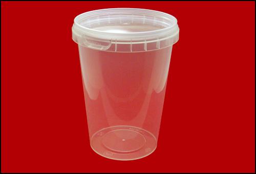 Герметичная пластиковая банка-контейнер 670 миллилитров стакан